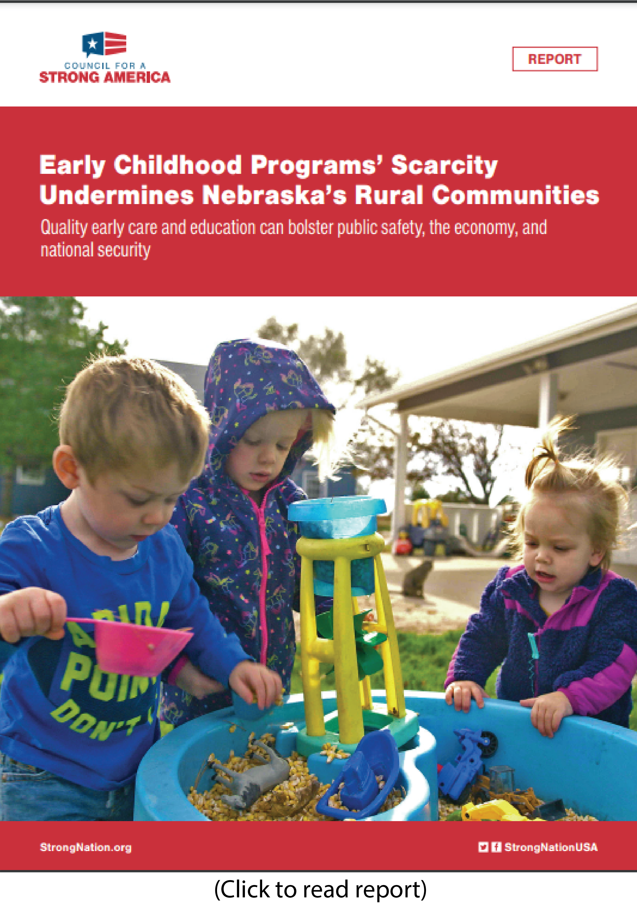 Report: Lack of child care in rural Nebraska impacts business, communities, crime, security