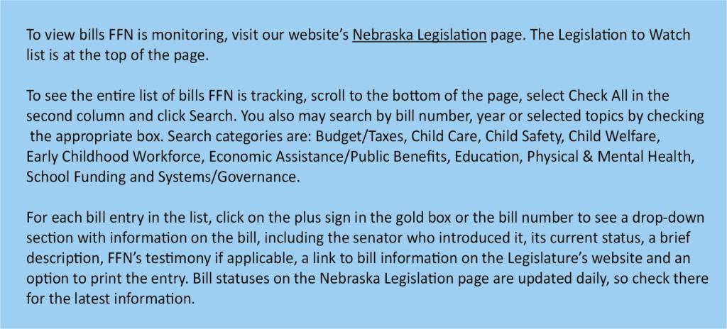 Legislative to watch graphic