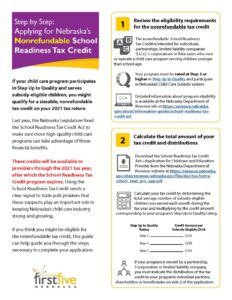 Page 1 of Nonrefundable Tax Credit Handout