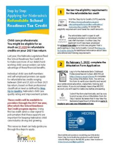 Page 1 of Refundable Tax Credit Handout