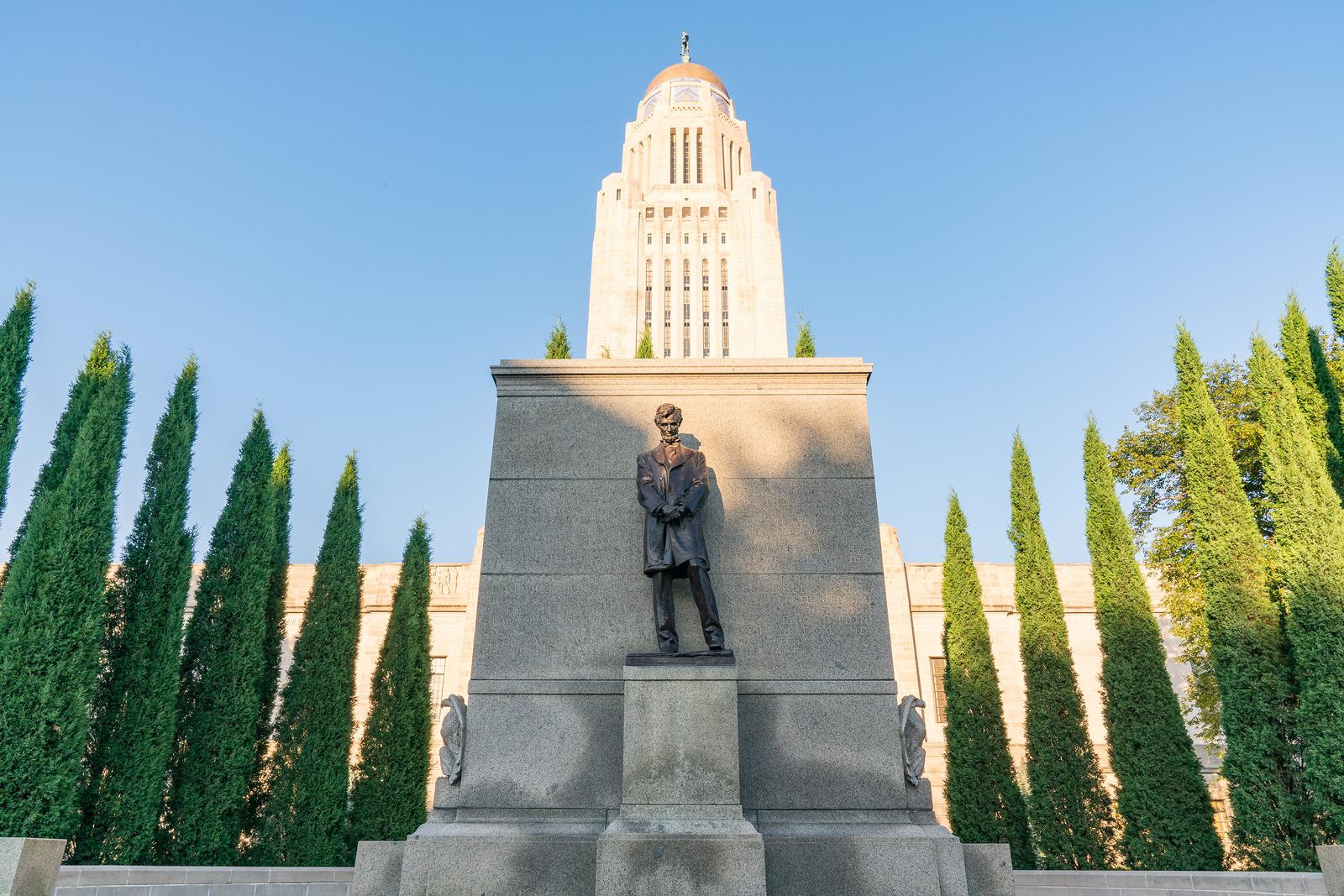Statue of Abraham Lincoln at Nebraska State Capitol